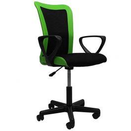 Bureaustoel Bali zwart/groen met arm