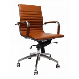 Bureaustoel Valencia Cognac - Inspired by Charles and Ray Eames