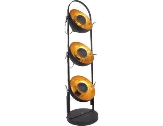 Golden Sun Vloerlamp 3-lichts Zwart/Goud