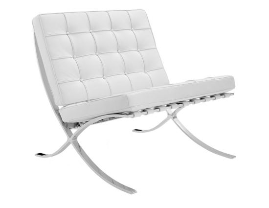 Barcelona expo fauteuil splitleder wit