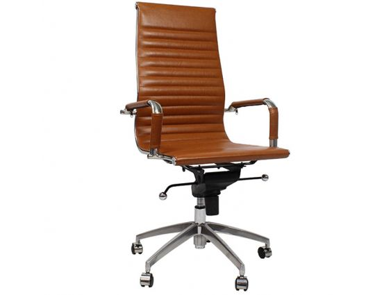 Bureaustoel Lyon Cognac - Inspired by Charles and Ray Eames