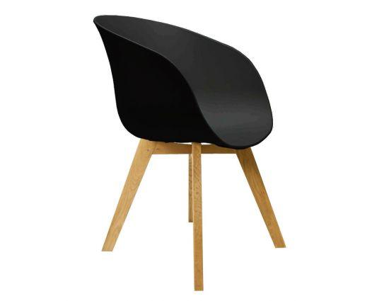 Noa zwart design kuipstoel