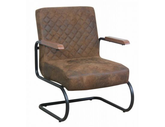Nero fauteuil vintage stof bruin