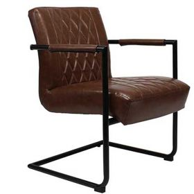 Luxe Fauteuil Charles leder bruin