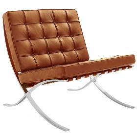 Barcelona expo fauteuil splitleder cognac