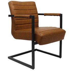 Luxe lederen fauteuil Meghan Cognac