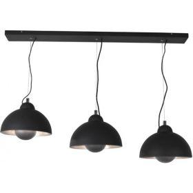 Silver sun ceiling light 3L zwart/silver