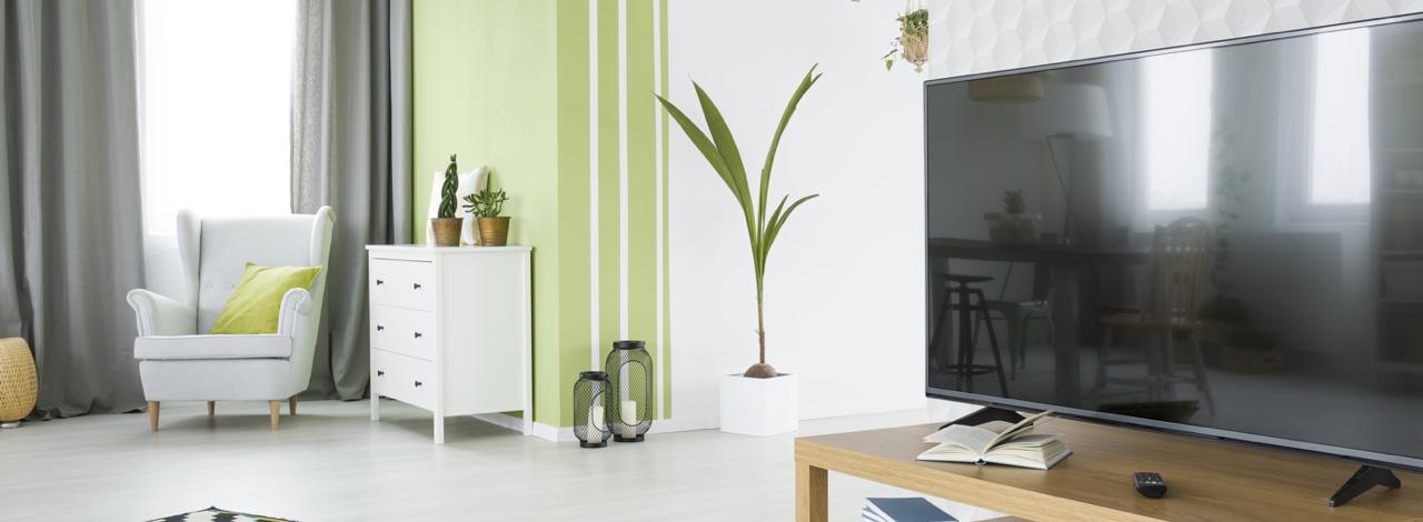 Televisie in woonkamer