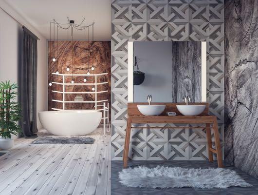 Verlichting badkamer bij spiegel en boven bad