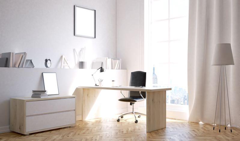 Bureaustoel in werkkamer