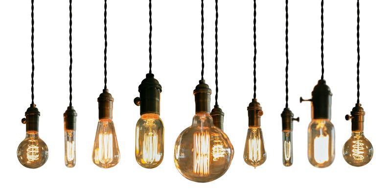 Hangende lampen met warm licht